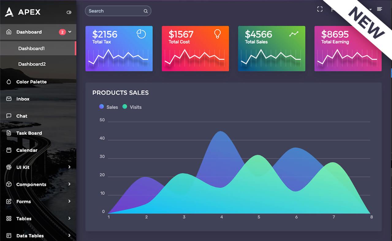 Apex - Angular 7+ & Bootstrap 4 HTML Admin Template