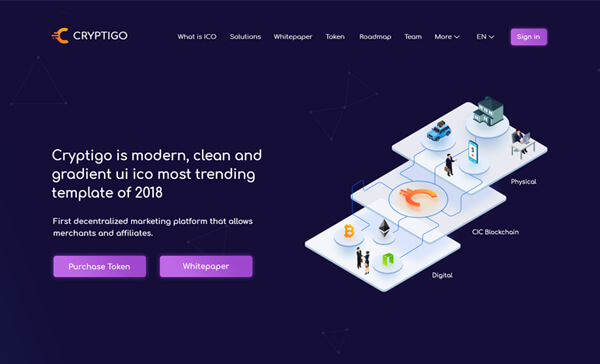 Crypto ICO - Cryptocurrency Website Landing Page HTML + Dashboard