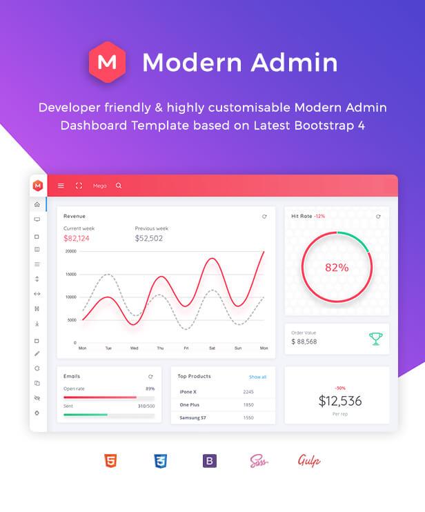 Modern Admin - Clean Bootstrap 4 Dashboard HTML Template + Bitcoin Dashboard