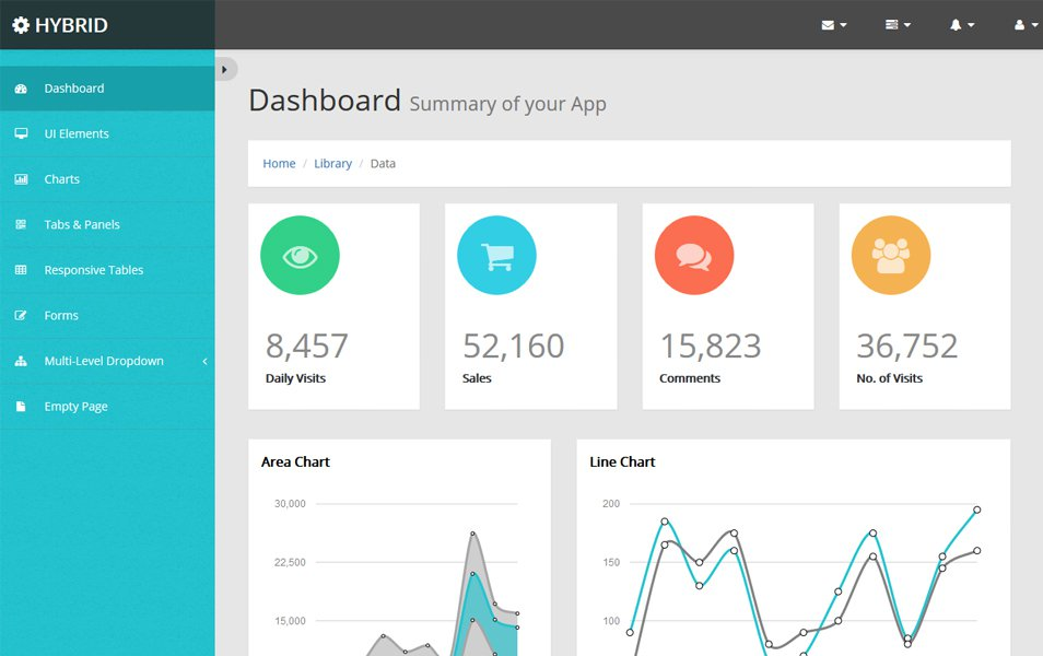 Bootstrap Hybrid Admin Template