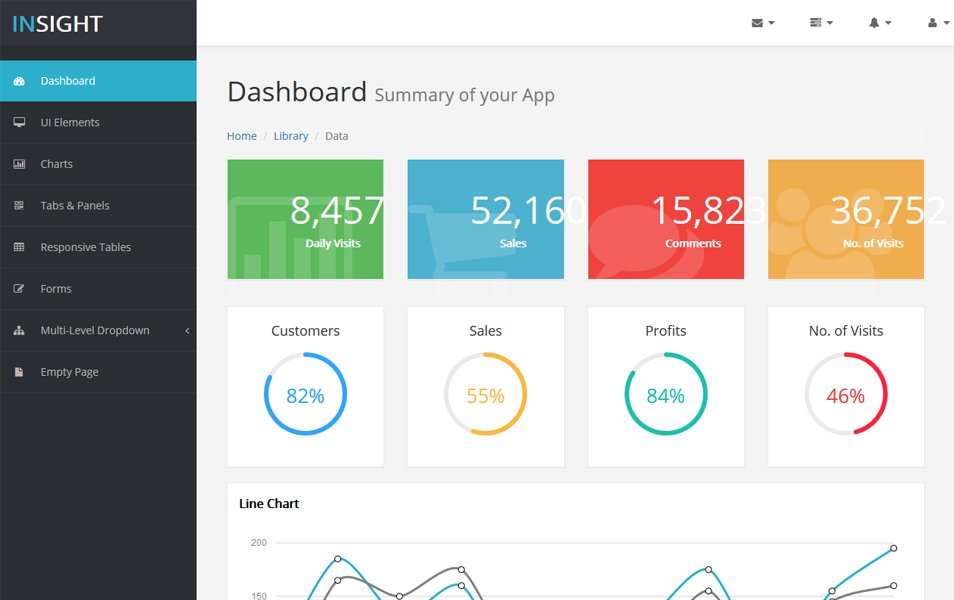 bootstrap insight html5 admin template
