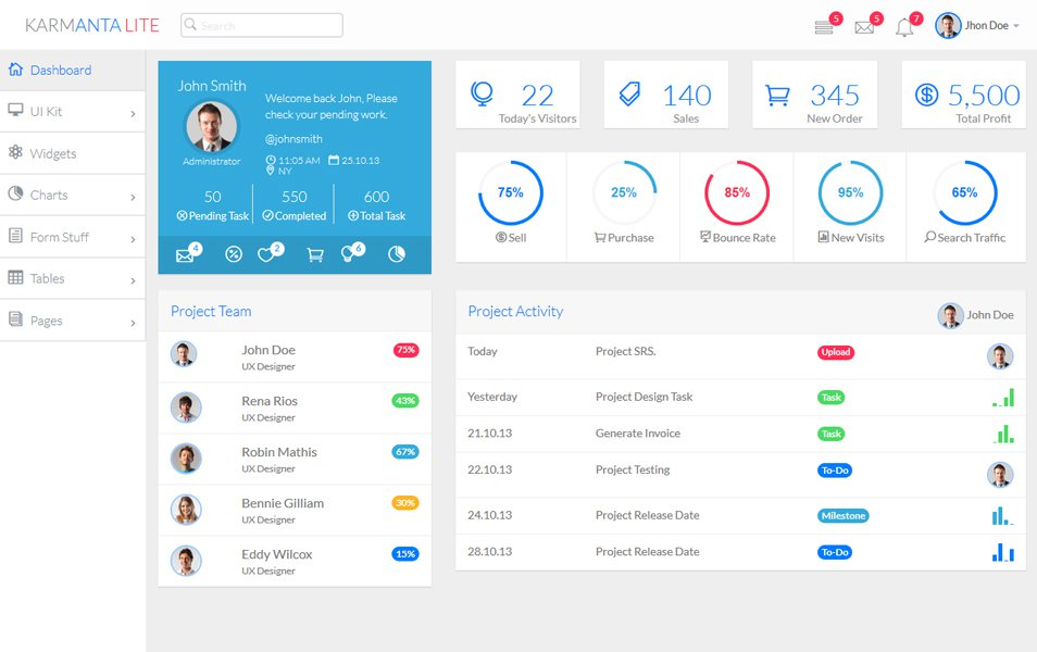 80+ best free bootstrap admin templates 2017 for web applications, Powerpoint templates