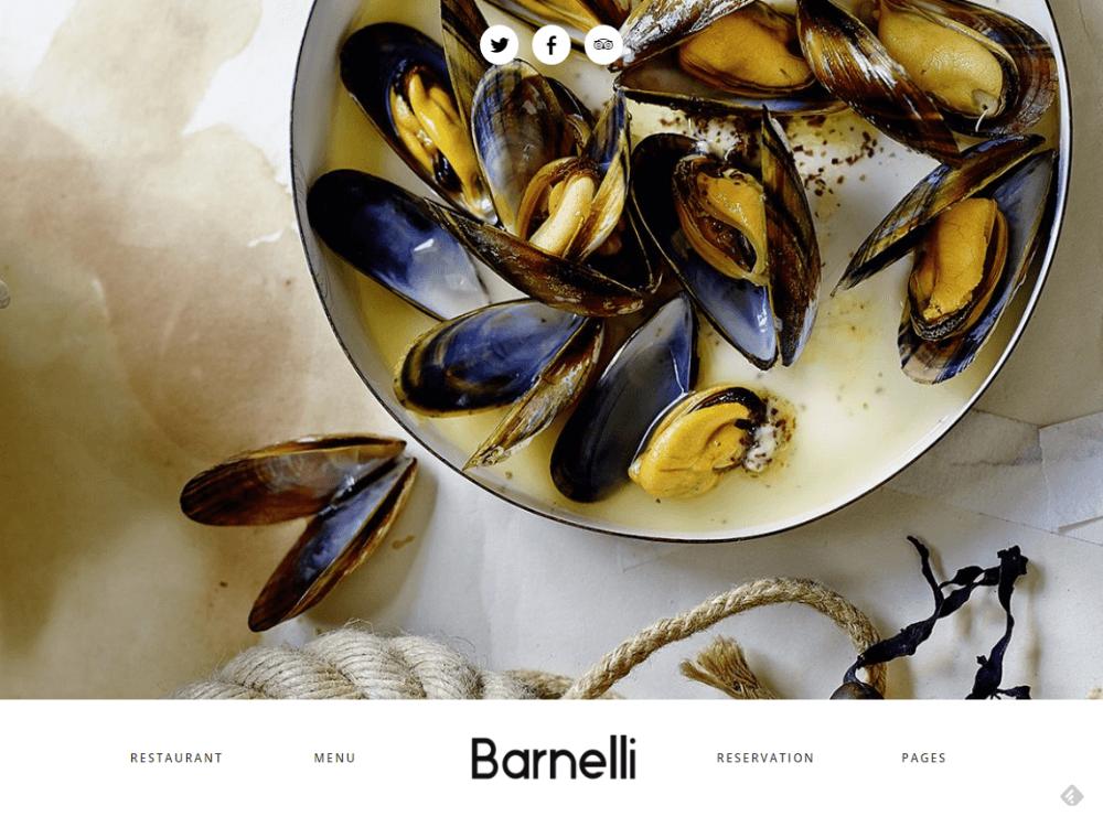 Barnelli - Restaurant Responsive WordPress Theme - Premium - Free Restaurant WordPress Themes