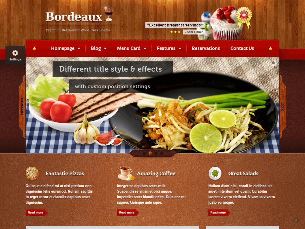 Bordeaux - Premium Restaurant Theme - Premium - Free Restaurant WordPress Themes