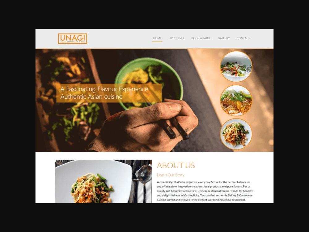Chinese Restaurant - Free Restaurant WordPress Themes