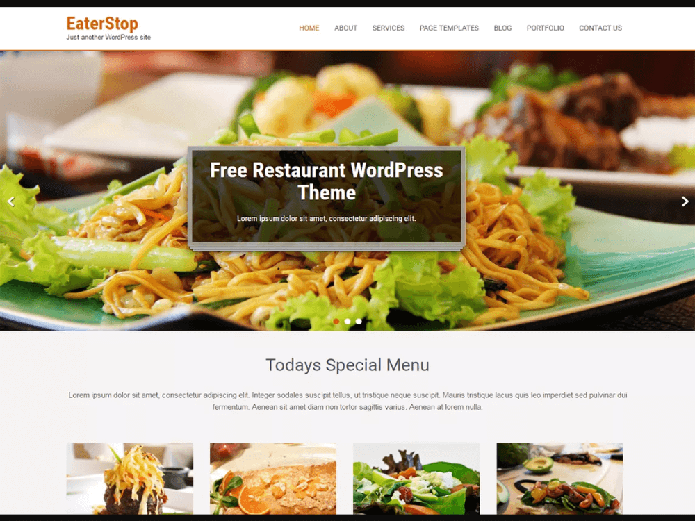Eaterstop Lite - Free Restaurant WordPress Themes