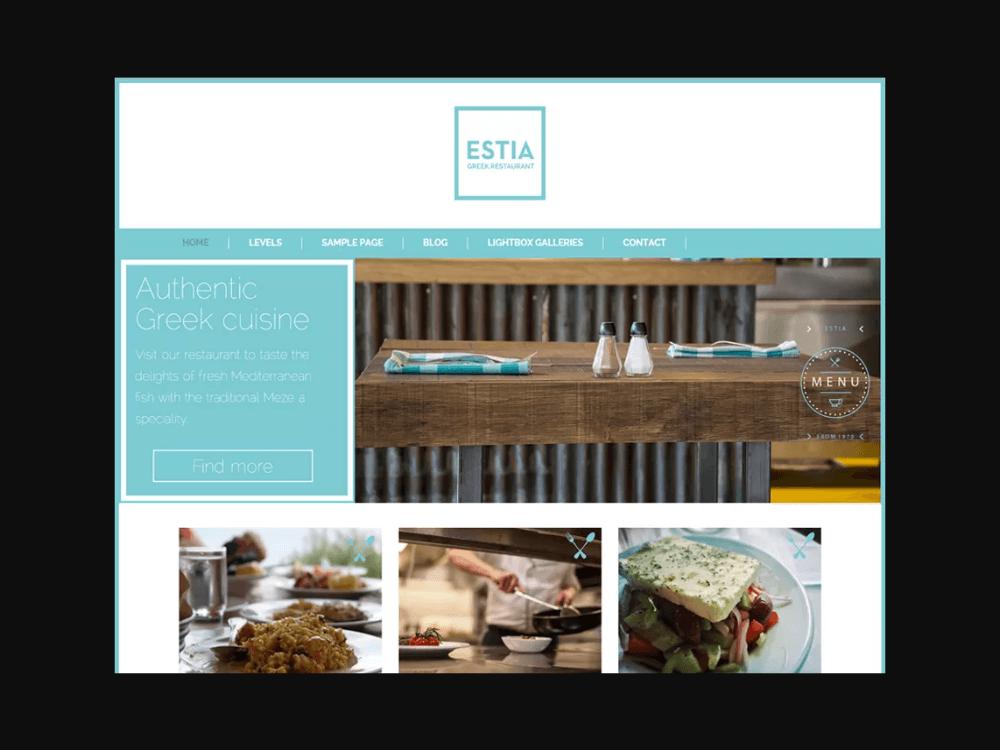 Greek Restauran - Free Restaurant WordPress Themes