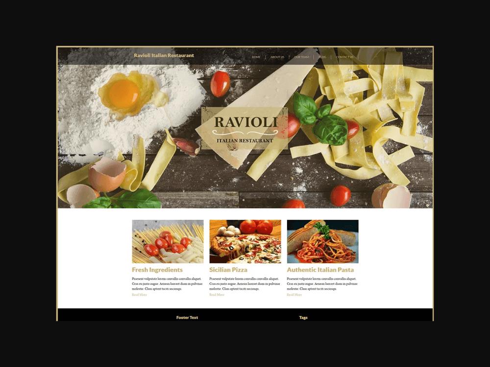 Italian Restaurant - Free Restaurant WordPress Themes