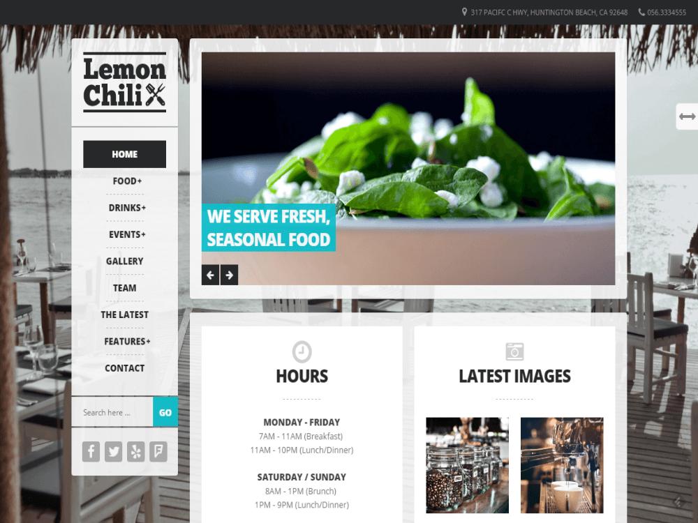 LemonChili - A Restaurant WordPress Theme - Premium - Free Restaurant WordPress Themes
