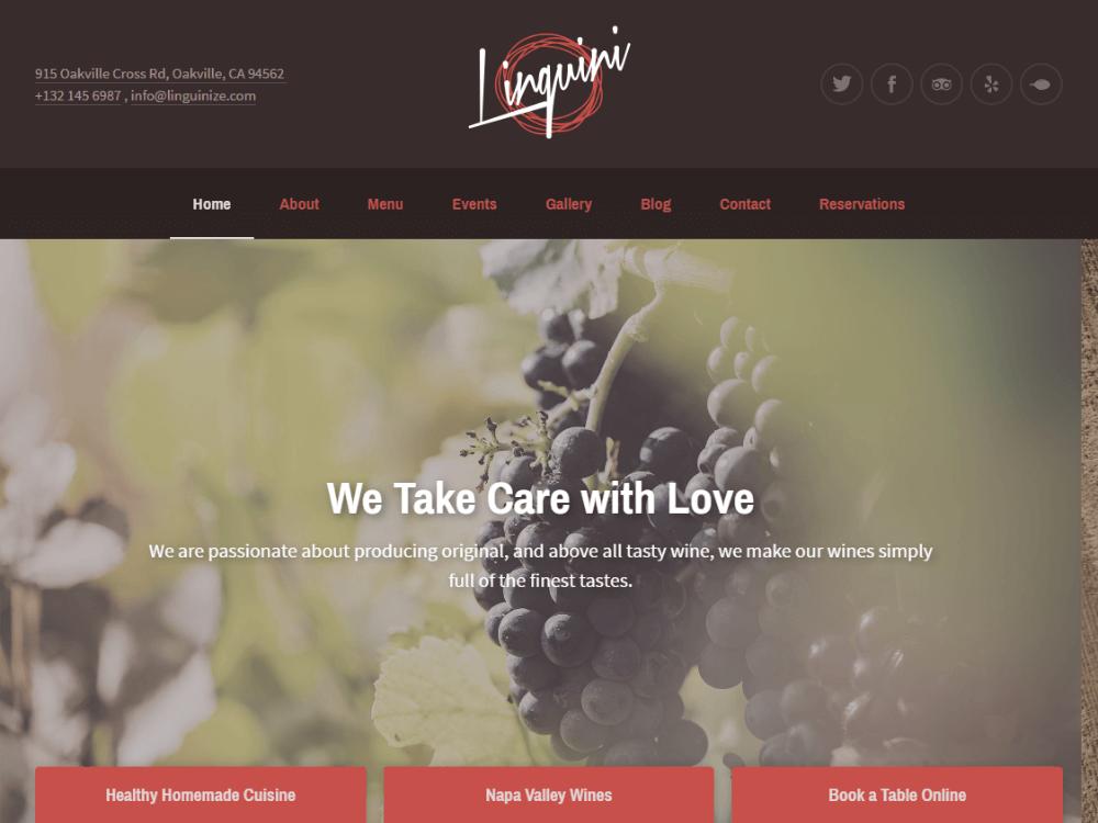 Linguini - Restaurant WordPress Theme - Premium - Free Restaurant WordPress Themes
