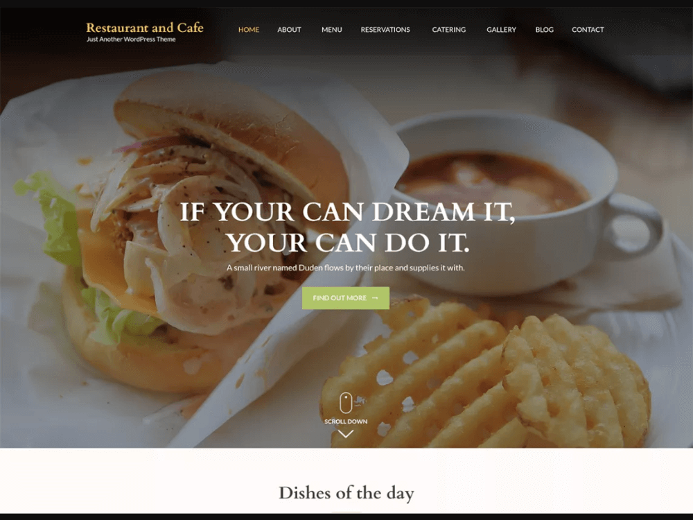Restaurant and Cafe - Free Restaurant WordPress Themes