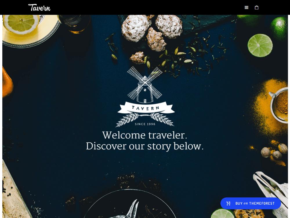 Tavern - Professional Restaurant Them - Premium - Free Restaurant WordPress Themes