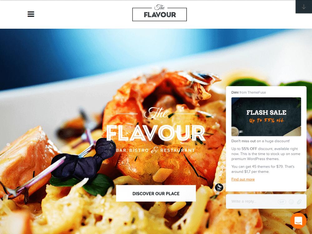 The Flavour - Restaurant WordPress Theme - Premium - Free Restaurant WordPress Themes