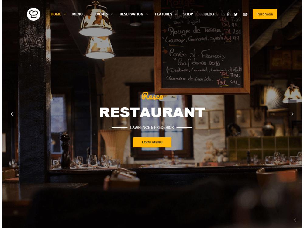 WordPress Restaurant Theme - Resc - Premium - Free Restaurant WordPress Themes