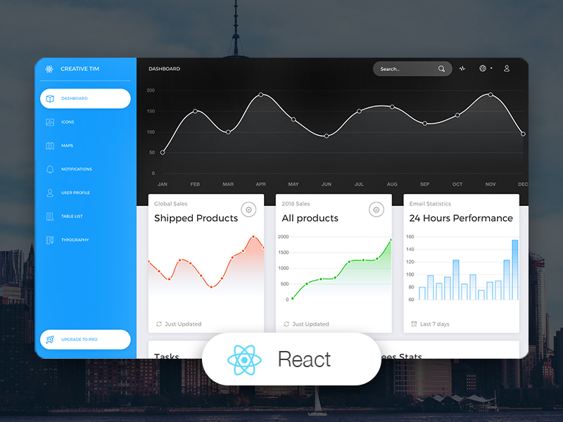 22+ Premium & Free ReactJS Admin Templates Material Design