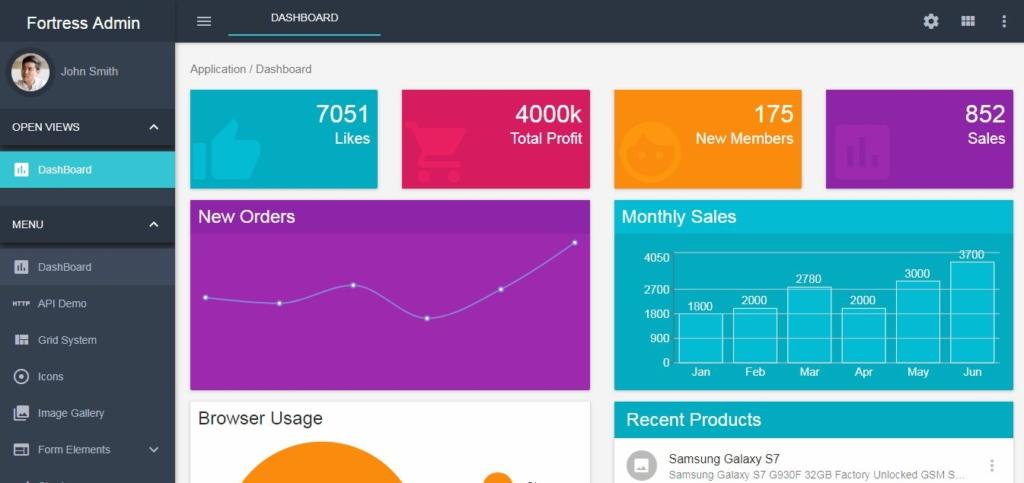 22+ Premium & Free ReactJS Admin Templates Material Design - PIXINVENT
