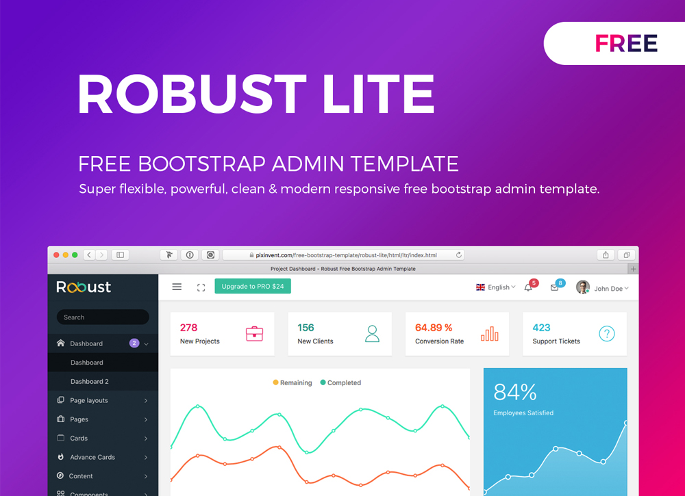 ROBUST LITE – FREE BOOTSTRAP ADMIN TEMPLATE